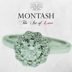 Classic halo design diamond engagement ring! #whitegold #gold #diamonds #brisbane #australia #gems #jewels #gemstones #jewellery #jeweller #handmade #handcrafted #remodel #manufacture #valuations #jewelleryrepair #bespoke #jewellerydesign #designer #engag