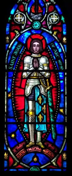 Saint Joan of Arc Stained Glass Window. St. Jerome's Church, Cleveland, Ohio.