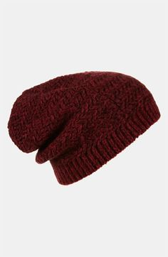 650ecf8e2b3 Topshop Two Tone Zigzag Beanie available at  Nordstrom Slouchy Beanie
