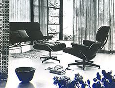 Chaise lounge y descansapies Eames - Chaise lounge - Herman Miller