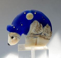 Marcy Lamberson - Polar Bear Lampwork Focal Bead...