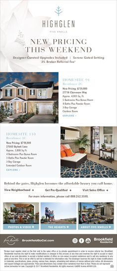 New Homes for Sale in Santa Clarita, California  New Pricing This Weekend at Highglen at Five Knolls  The Luxury homes you  have been waiting for!  Designer Upgrades Included!  Exclusive Gated Setting!  http://brookfieldsocal.com/neighborhood/highglen-at-five-knolls/