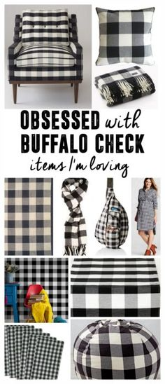 Black And White Buffalo Check Welcome Mat Spring Is In