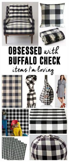 A Pattern I'm Loving- Buffalo Check, Buffalo Plaid, Black and White Plaid, Black…