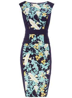 Bird peplum structured dress from Dorothy Perkins.