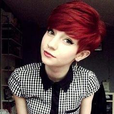 22. #Boldly Colored Pixie - 31 #Perfectly Precious Pixie Cuts ... → Hair #Pixie