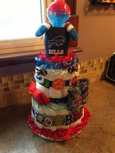 Buffalo Bills Diaper Cake totally cute. Would so do this either Auburn  Tigers e3ab9b0c9