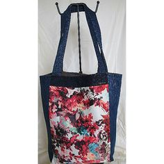 """** Handmade Jeans Bags **Items are handmade, unique, specially designed and made by me. Designs are available in one piece only. A special gifts for Yourself, Family, Friends, Love one…  New without Tags, """"Unused and Unworn Jean / Washable """" Overall in Good Condition""""Code : SWOL-B0007· Front : Floral Fabric  ·Back : 2 separate open Pockets  ·Interior : Fabric Lining with 4 separate open Compartments·Closure : Fastener Tape                     ·Approx Measures…"""