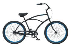 Venice 3 Speed Black with Anodized Blue Rims