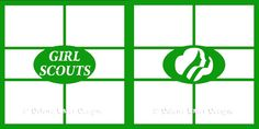 Dillons Laser - Girl Scouts Overlay : Sports Scrapbook Supplies at Scrappin` Sports Stuff