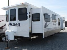 2013 Forest River Puma 38PLF - Front Living, Park Models RV For Sale in Winston-Salem, North Carolina | Country Roads RV Center 2013 Puma 38PLF | RVT.com - 98080