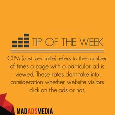 Tip Of The Week: CPM  Find more tips on our blog!