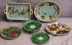 majolica plates and platters.  So beautiful!