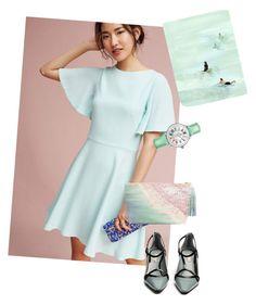 """""""dress"""" by masayuki4499 ❤ liked on Polyvore featuring Shoshanna, Leftbank Art, Fabrizio Viti, Paige Gamble and Michele"""