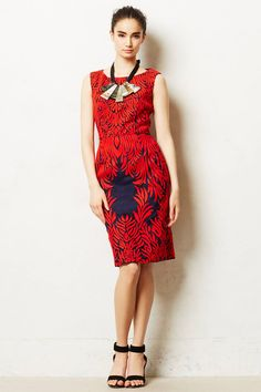 Spicetree Dress - anthropologie.com  I don't think this cut would look great on me but the style, colors and pattern are lovely.