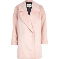 Pale pink oversized wool coat - coats - coats / jackets - women