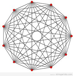 strig art free geometric pattern Hendecagon String Art, free pattern to download
