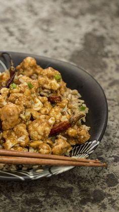 Recipe with video instructions: This homemade spicy cauliflower stir-fry will be your new favorite vegetarian dish. Ingredients: Marinade: (makes double amount of cauliflower needed), 1 head of cauliflower, 2 Tbsp soy sauce, 2 Tbsp rice wine vinegar, 1 ½ Tbsp cornstarch, ½ cup brown rice flour, Olive oil, for drizzling, Sauce:, 2 Tbsp black vinegar (Chinese vinegar), 2 Tbsp soy sauce, 1 heaping Tbsp hoisin, 1 Tbsp sugar, 1 tsp sesame oil, 1 Tbsp cornstarch, 3 Tbsp peanut oil, ½ Tbsp ground…