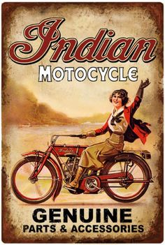 Cool old Indian promo w/Foxy rider!