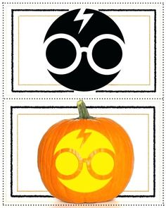 Best Easy Harry Potter Pumpkin Carving stencils design ideas, patterns templates 2019 printable free ideas for halloween for Harry Potter movie fans across the world Cute Pumpkin Carving, Halloween Pumpkin Carving Stencils, Scary Halloween Pumpkins, Halloween Ideas, Pumpkin Carvings, Halloween Costumes, Halloween Crafts, Halloween Labels, Pumpkin Painting
