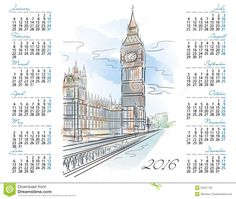 vector calendario 2016 - Buscar con Google