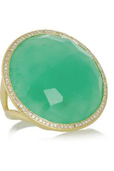 Ippolita  Lollipop 18-karat gold, chrysoprase and diamond ring