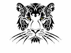Tribal Tiger - sketch book pro ipad 16 April 2016