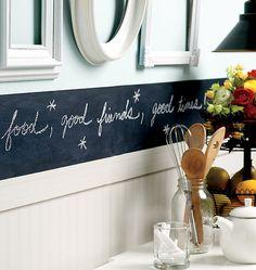 Slate Gray Chalkboard Wall Decal or chalkboard paint Chalkboard Boarders, Diy Chalkboard Paint, Chalkboard Ideas, Chalkboard Wallpaper, Chalkboard Walls, Wall Stickers, Wall Decals, Wall Art, Wall Borders