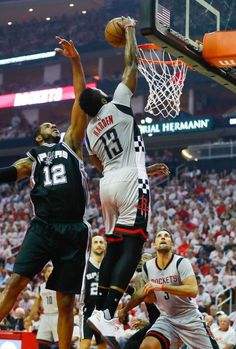 Houston Rockets guard James Harden (13) shoots past San Antonio Spurs forward LaMarcus Aldridge (12) during the first half of Game 3 of the second round of the Western Conference NBA playoffs at the Toyota Center, Sunday, May 7, 2017, in Houston. ( Karen Warren / Houston Chronicle ) Photo: Karen Warren/Houston Chronicle