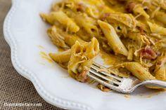 Crock Pot Buffalo Ranch Chicken Casserole is cheap to make and can feed the entire family via flouronmyface.com
