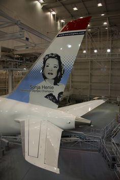 Norwegian Boeing 787 Sonja Henie Norwegian Olympic Champion