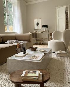 Beige Living Rooms, Living Spaces, Living Room Designs, Living Room Decor, Home Interior Design, Interior Decorating, Decorating Ideas, Cute Apartment, Minimal Decor