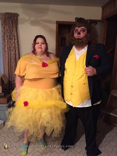 Coolest homemade beauty and the beast costumes Beauty And The Beast Costume, Belle Beauty And The Beast, Halloween Costume Contest, Couple Halloween Costumes, Halloween 2017, Halloween Party, Epic Costumes, Costume Ideas, Plus Size Halloween