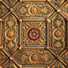 Wolsey's closet ceiling detail.