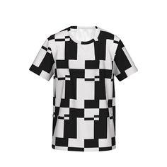 シンプルな幾何学模様のグラフィックTシャツです。/『幾何学模様グラフィック Tシャツ 白黒』 - 7th Spirits