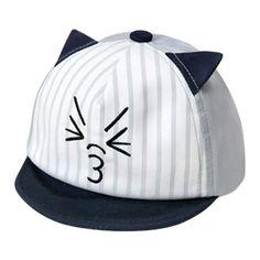 Summer Autumn Baby Girls Boys Cat Ears Baseball Cap Sun Beach Hat Newborns Cartoon Peaked Caps