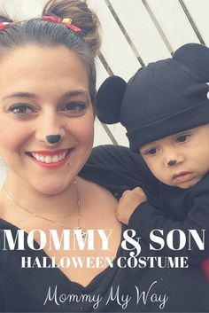 Mommy and Me Halloween Costume – Mom and son Mickey Mouse and Minnie Mouse