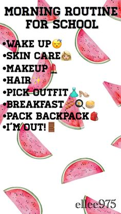 ✨Follow Me!✨@ellee975 | #Routine #Morning #Skincare #Fashion #Beauty #School #Summer #Outfits #List