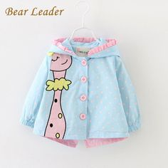 Baby Jackets Kids Coats Jackets Clothing Baby girl Clothes Cartoon Coats dots hooded Children OuterwearCoats