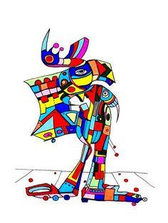 Pylokraten VI von Etelka Kovacs-Koller - mad for art auf DaWanda.com Donald Duck, Illustration, Sonic The Hedgehog, Artworks, Disney Characters, Fictional Characters, Mad, Etsy, Drawing S