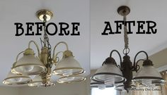 How to Spray Paint your Light Fixtures with #GELighting #cbias @Alice Hurley ~ * THE COUNTRY CHIC COTTAGE (DIY, Home Decor, Crafts, Farmhouse)