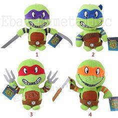 """4pcs Set Movie Teenage Mutant Ninja Turtles 20cm/8"""" Soft Plush Stuffed Doll Toy"""