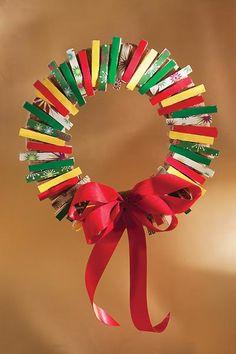Washi Tape Christmas / Xmas / Navidad coronas navideñas.
