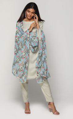 Mint & Sky Flora Salwar Suit