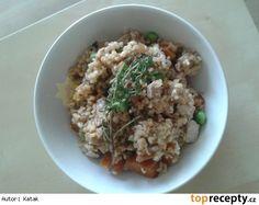 Bulgureto s houbami a hlívovým šmakounem