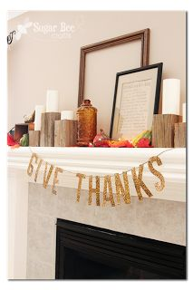 """Give Thanks"" Garland"