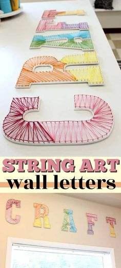 I've seen several string art projects around lately. String art is time-consum., DIY and Crafts, I've seen several string art projects around lately. String art is time-consuming, but the end result is beautiful and well worth the effort. Homemade Crafts, Easy Diy Crafts, Creative Crafts, Fun Crafts, Arts And Crafts, Creative Ideas, Amazing Crafts, Creative Walls, Teen Projects
