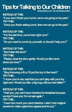 tips - talking to your children