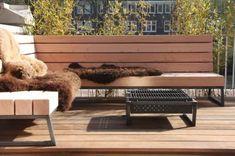 Robuuste loungebank voor in de tuin   Meubelmakerij   Houtkwadraat   Stoer spul