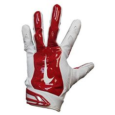 Nike Promo Vapor Jet 3.0 Receiver Gloves (White/Red, XL)